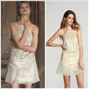 FREE PEOPLE NWT GOLD BLING DRESS SZ 8